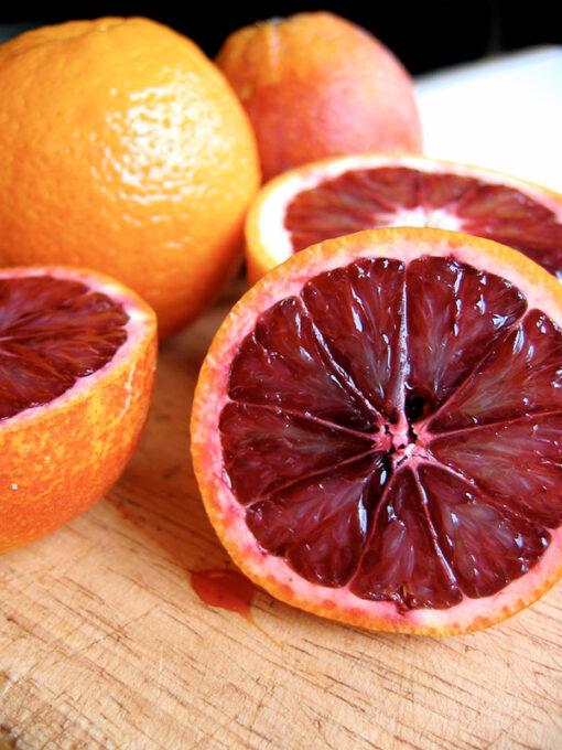 Pulpa de las naranjas de sangre